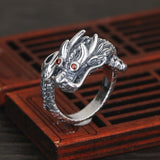 Lucky Chinese Dragon Ring (Silver)