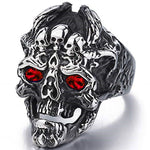 Dragon Skull Ring (Steel)