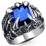 Dragon Ring with Blue Gemstone