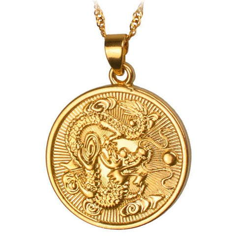 Dragon Coin Necklace