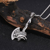 Dragon Axe Necklace made of Steel
