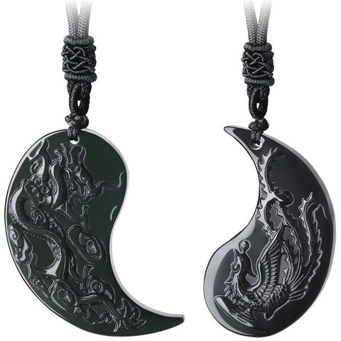Dragon & Phoenix Couple Necklaces