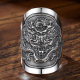 Silver Thai Dragon Ring