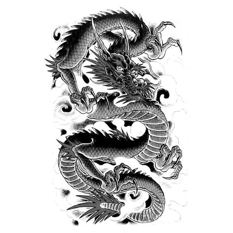 Dragon Sketch Temporary Tattoo