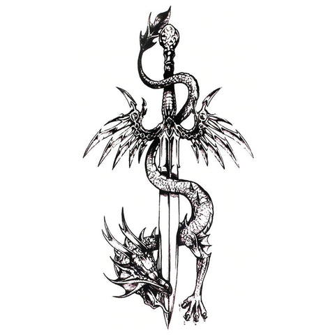 Dragon Sword Temporary Tattoo
