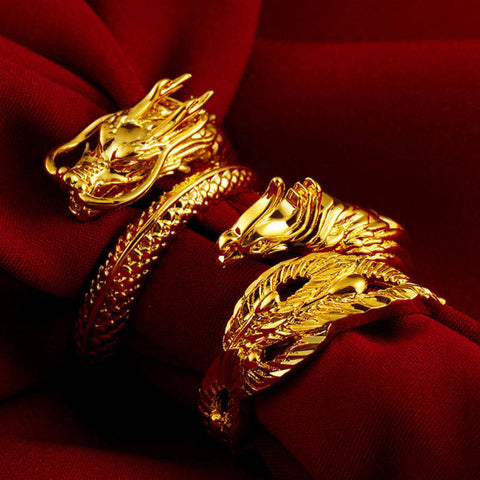 Dragon & Phoenix Couple Rings