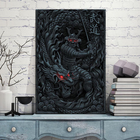 Japanese Dragon Wall Art