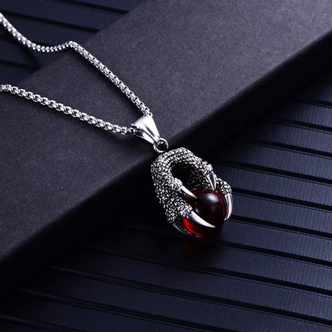 Red Dragon Orb Necklace