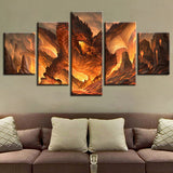 Fire Dragon Wall Art