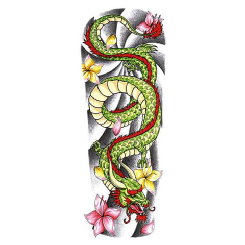 Eastern Dragon Temporary Tattoo