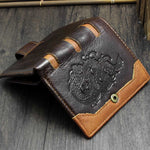 Dragon Embossed Leather Wallet