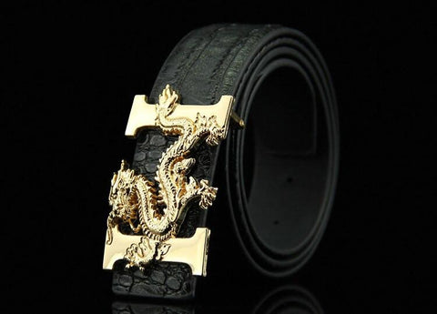 Black belt with golden dragon