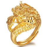 Golden Dragon Head Ring
