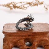 Asian Dragon Ring (Steel)