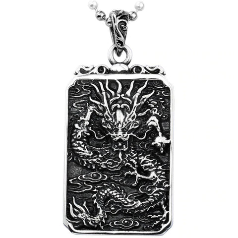 Japanese Dragon Pendant (Steel)