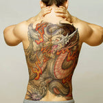 Japanese Dragon Temporary Tattoo (Back)