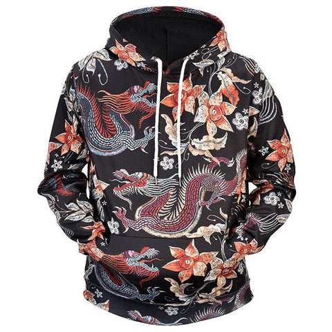 Japanese Dragons' Blossom Hoodie