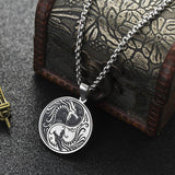 Dragon Necklace with the Yin and Yang