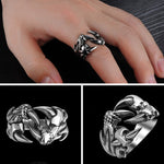 Mighty Dragon Claw Ring (Steel)