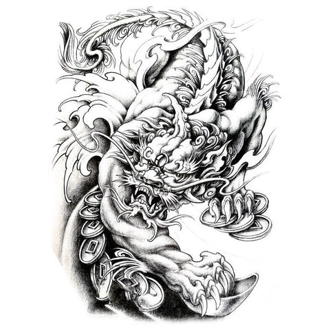Oriental Dragon Temporary Tattoo