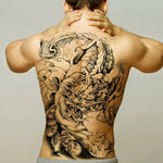 Oriental Dragon Temporary Tattoo (Back)