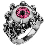 Dragon Claw Ring with a Pink Eye