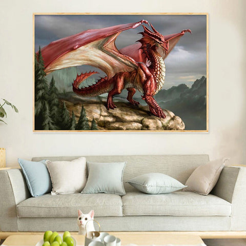 Red Dragon Wall Art