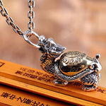 Dragon Turtle Necklace (Silver)