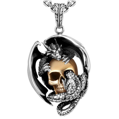 Dragon Skull Necklace