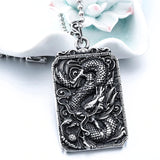 Dragon Amulet Necklace (Steel)