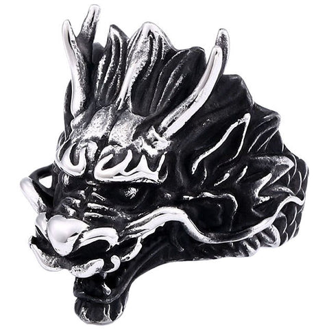 Chinese Dragon Head Ring