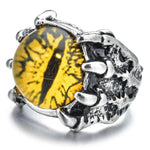 Yellow Dragon Eye Ring