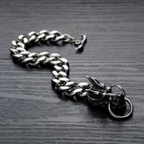 Dragon Head Bracelet (Steel)