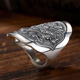 Thai Dragon Ring made of 925 Sterling Silver