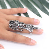 Full Finger Dragon Ring (Steel)