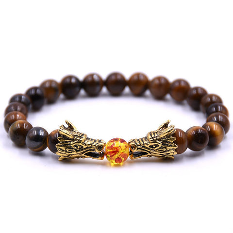 Tiger Eye Dragon Bracelet