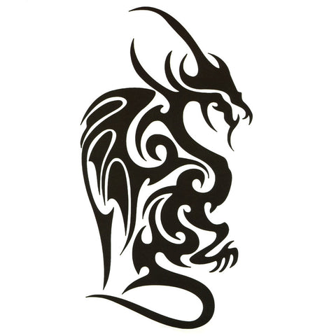 Tribal Dragon Temporary Tattoo
