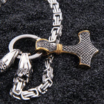 Viking Dragon Necklace (Steel)
