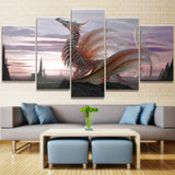 White Dragon Wall Art