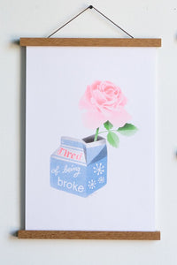 Tired of Being Broke Print