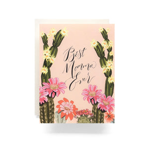 Blooming Cactus Momma Card