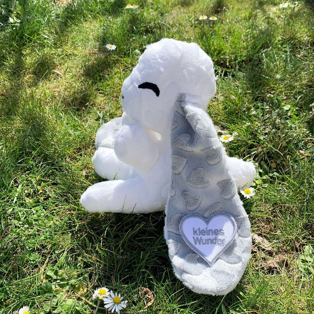 "Babyhase white Hearti ""grey hearts"""