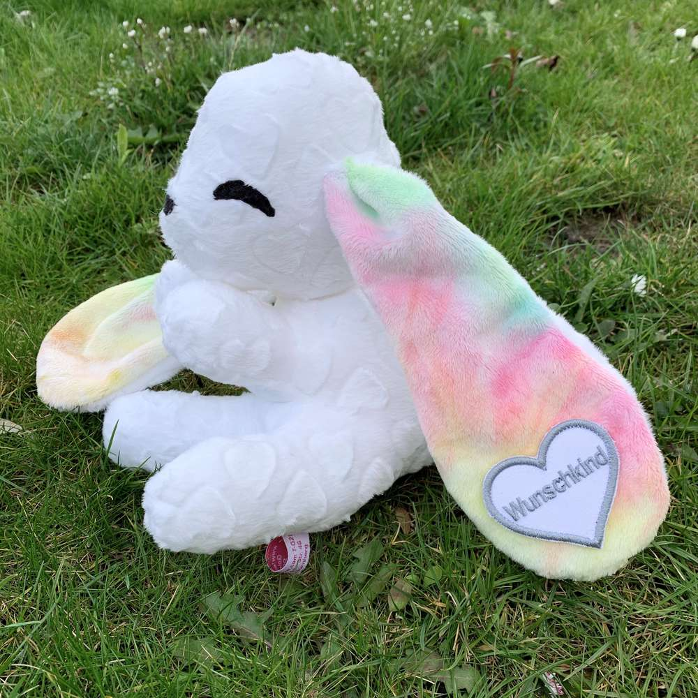 "Babyhase white Hearti ""rainbow"""