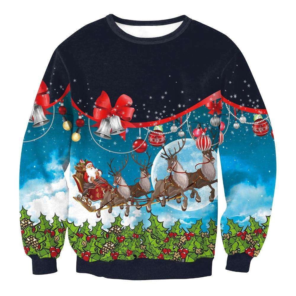 Santas Trip Ugly Christmas Sweater - Multicolor,S,Multicolor,M,Multicolor,L,Multicolor,XL | Deal Mission