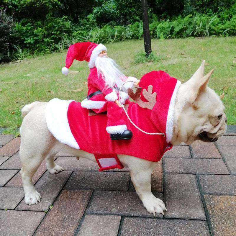 Santa Rides Dog Christmas Clothes - S,Red,M,Red,L,Red,XL,Red | Deal Mission