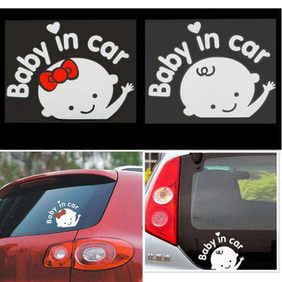 Baby In Car Sticker - Black,White | Deal Mission