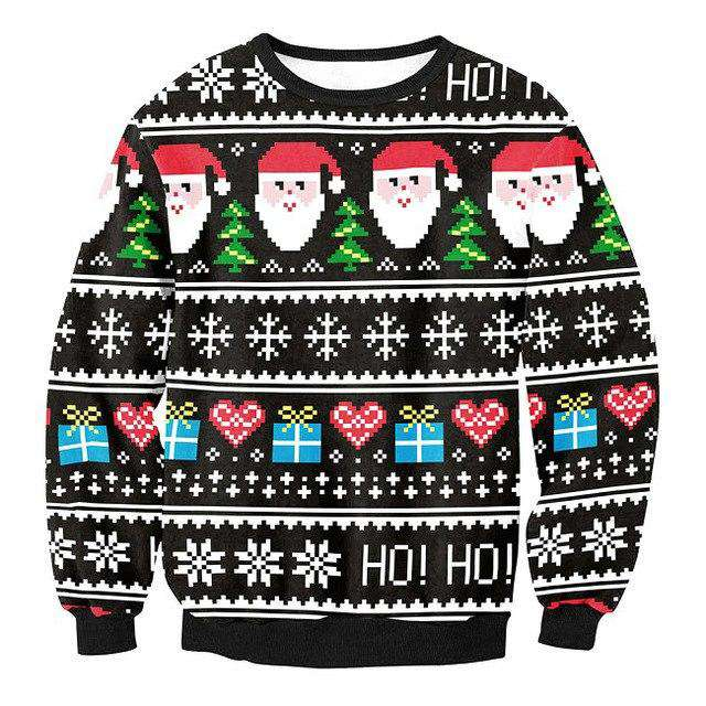 Snowflake Run Ugly Christmas Sweater - SWYS023,S,SWYS023,M,SWYS023,L,SWYS023,XL | Deal Mission