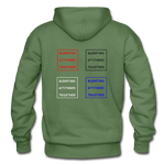 EAT the hoodie - military green