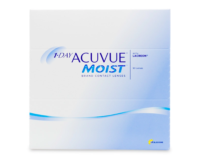 1 Day Acuvue Moist Contact Lenses  90-Pack - Lensbox™