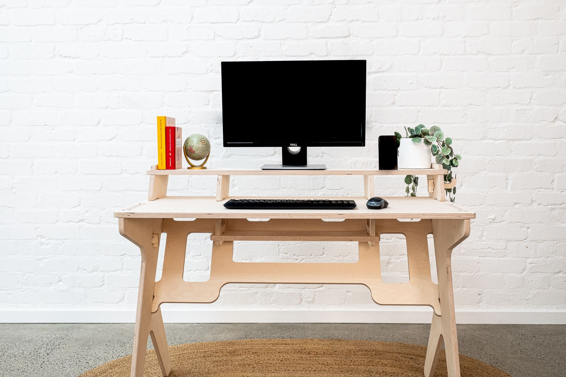 isoking, stagekings, studio Desk, desk, work table, work desk, work from home, work station, hooks, cable storage, cable management, bag hook, device hook, device holder, ipad holder, iphone holder, solidwood, solid birch, ply, plywood, birch, table, writing desk